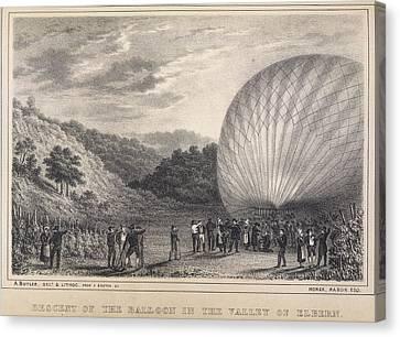 A Hot-air Balloon Canvas Print by British Library