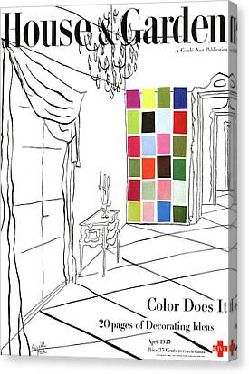 A House And Garden Cover Of Color Swatches Canvas Print by Priscilla Peck
