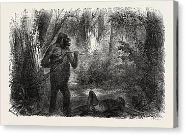 A Hunter Killed By A Gorilla Canvas Print