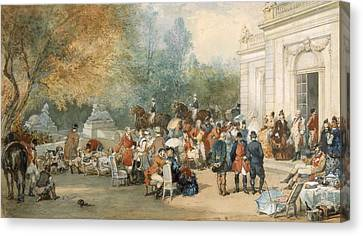 A Hunting Breakfast In England, 1870 Canvas Print by Eugene-Louis Lami