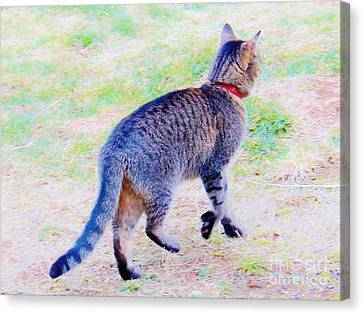 A Hunting We Will Go Canvas Print by Judy Via-Wolff