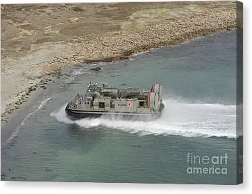 A Japan Self-defense Force Landing Canvas Print by Stocktrek Images