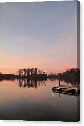 A Jetty Into Crab Orchard Lake Canvas Print
