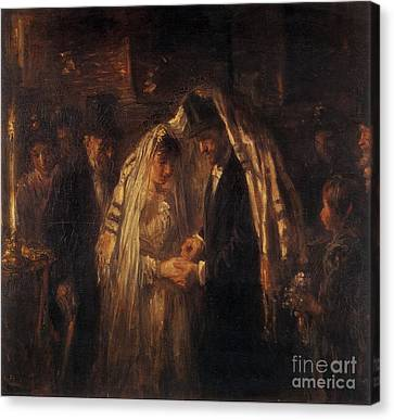 A Jewish Wedding Canvas Print by Celestial Images