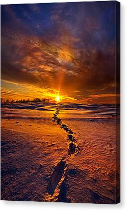 A Journey To The Shining Star Canvas Print by Phil Koch
