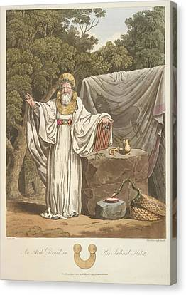 A Judicial Druid Canvas Print by British Library