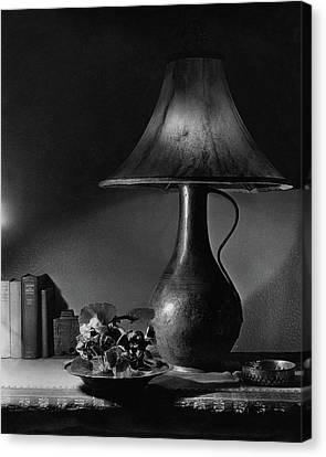 A Jug Lamp Canvas Print by Joseph B. Wurtz