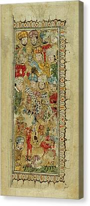 A King's Retinue Canvas Print by British Library