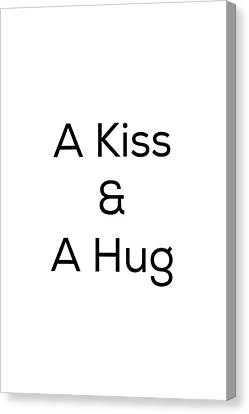 A Kiss And A Hug Canvas Print by Kim Fearheiley