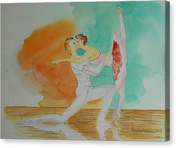 A Kiss In Ballet  Canvas Print