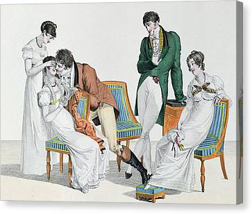 A Kissing Game Canvas Print by French School