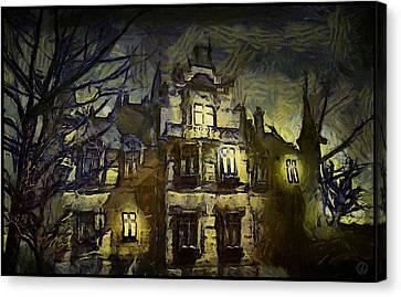 Old House Canvas Print - a la van Gogh by Gun Legler