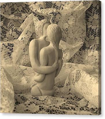 A Lace Kiss Canvas Print by Barbara St Jean