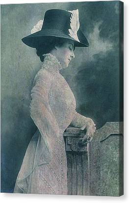 A Lady Ponders Canvas Print by Sarah Vernon