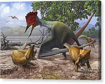 A Large Bakonydraco Pterosaur Attacking Canvas Print