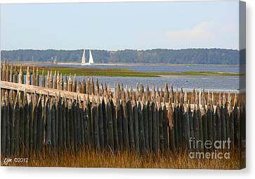 Canvas Print featuring the photograph A Lazy Morning Along The Mighty Cape Fear River by Phil Mancuso