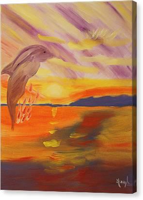 A Leap Of Joy Canvas Print