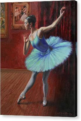 Ballet Dancers Canvas Print - A Legacy Of Elegance by Anna Rose Bain