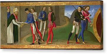 A Legend Of Saints Justus And Clement Of Volterra Canvas Print
