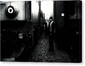 Romania Canvas Print - A Life Between Trains by Julien Oncete