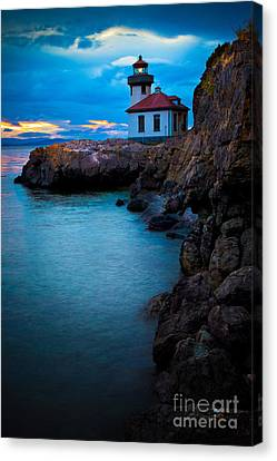 A Light In The Darkness Canvas Print by Inge Johnsson