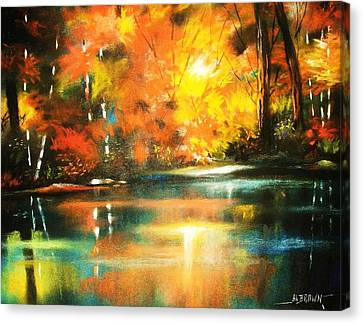 A Light In The Forest Canvas Print by Al Brown