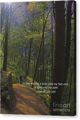 A Light Unto My Path Canvas Print by Charles Robinson