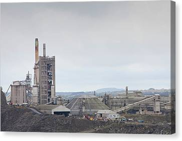 A Limestone Quarry In Clitheroe Canvas Print