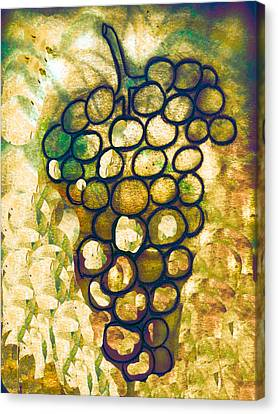 A Little Bit Abstract Grapes Canvas Print by Jo Ann