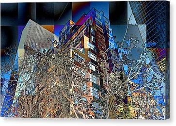 A Little Bit Of Spring In The City Canvas Print by Miriam Danar