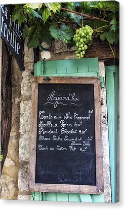 A Little Cafe Somewhere In France Canvas Print by Georgia Fowler