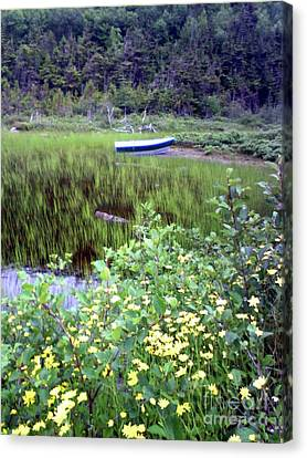 Canvas Print featuring the photograph A Little Flat Awaiting by Barbara Griffin
