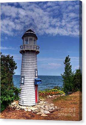 A Little Lighthouse Canvas Print by Mel Steinhauer