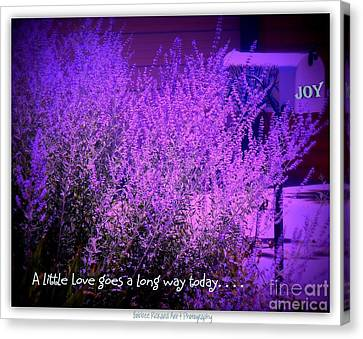 A Little Love Canvas Print by Bobbee Rickard