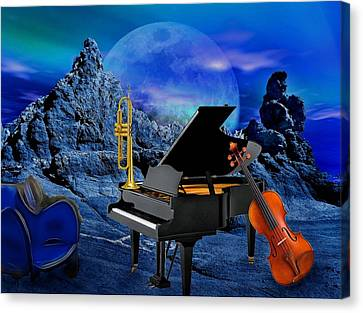 A Little Night Music Canvas Print by Manfred Lutzius