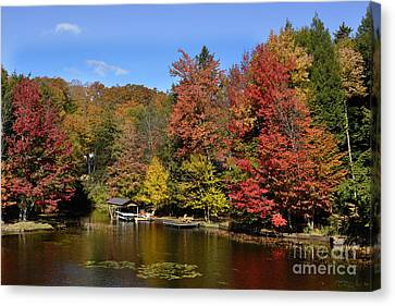 A Little Piece Of Adirondack Heaven Canvas Print by Diane E Berry