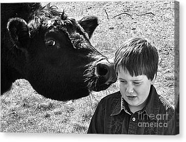 Canvas Print featuring the photograph A Little Secret by Barbara Dudley