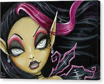 A Little Wicked Canvas Print by Elaina  Wagner