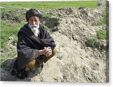 A Local Afghan Man Near A Village Canvas Print by Stocktrek Images