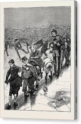 Slide Canvas Print - A London Slide, 1870 by English School
