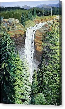 A Long Way Down Canvas Print by Timithy L Gordon