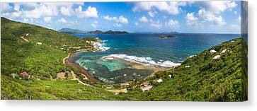 John's Folly Bay From Tradewinds Cottage In St. John Usvi Canvas Print