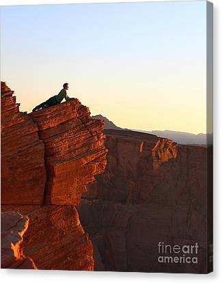 A Look At The Canyon Canvas Print by Dipali S