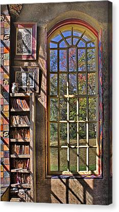 Books Canvas Print - A Look From The Library by Susan Candelario