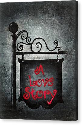 A Love Story No 10 Canvas Print