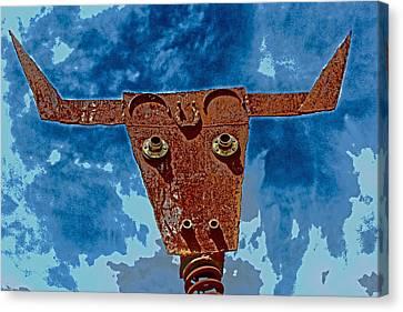 Canvas Print featuring the photograph A Lucky Bull by Lynn Sprowl