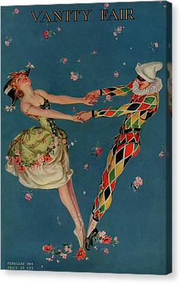 A Magazine Cover For Vanity Fair Of A Ballet Canvas Print