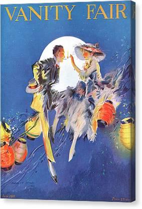 A Magazine Cover For Vanity Fair Of A Couple Canvas Print by Everett Shinn