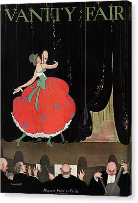 A Magazine Cover For Vanity Fair Of A Couple Canvas Print by Thelma Cudlipp
