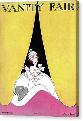 1916 Canvas Print - A Magazine Cover For Vanity Fair Of A Woman by A. H. Fish